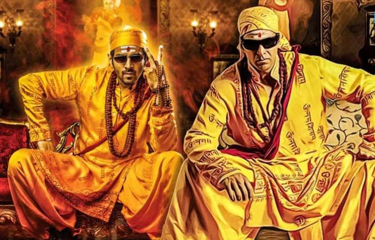 The posters of Bhool Bhulaiyaa 2 also feature Kartik in the same avatar