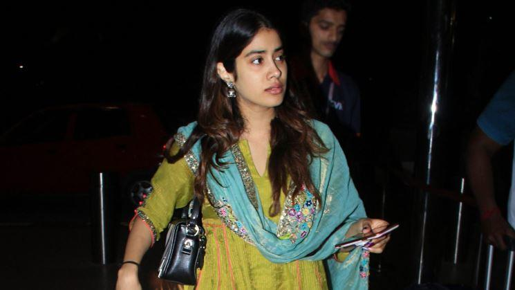 Janhvi Kapoor was dressed in traditional attire as she left for Chennai