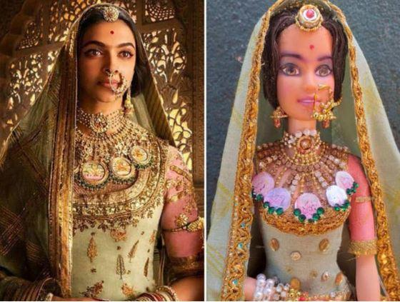 The doll does have a striking similarity with the real Deepika version