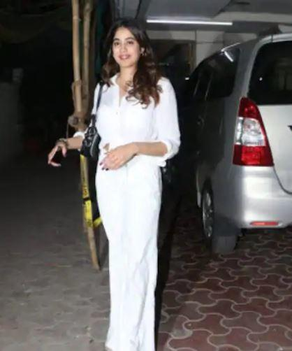 The actress was spotted in the city in a white co-ord set
