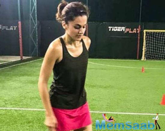 The actress is working on her sprints at the moment even as she is filming Haseen Dilruba for director Vinil Matthew, co-starring Vikrant Massey.