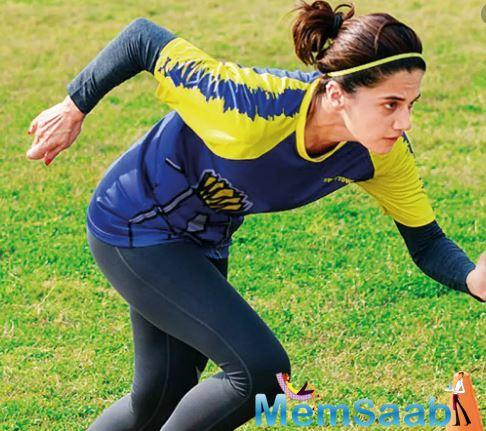 Taapsee Pannu, who was last seen in film Thappad, now the actress is learning Kutchi to play the role of an athlete.