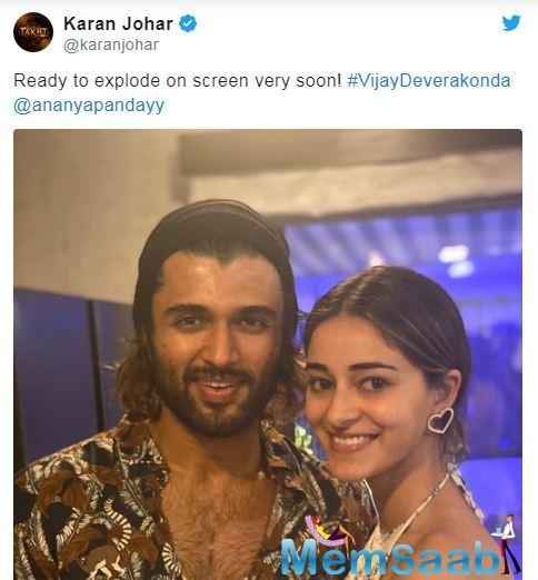 Ananya Panday and Vijay Deverakonda have been making it to the headlines for their recently announced film.