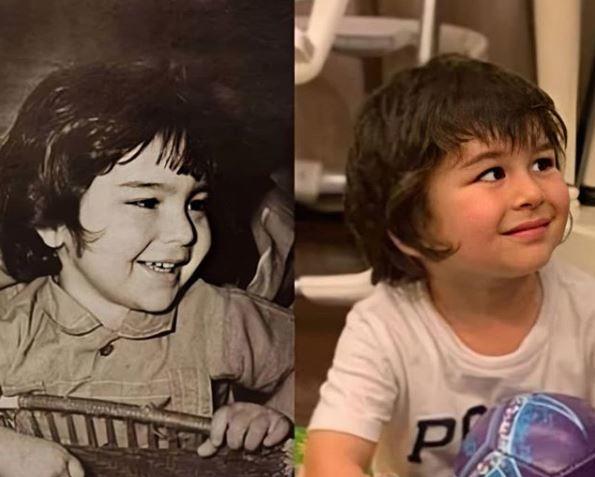 Taimur looks like a mirror image of his father Saif