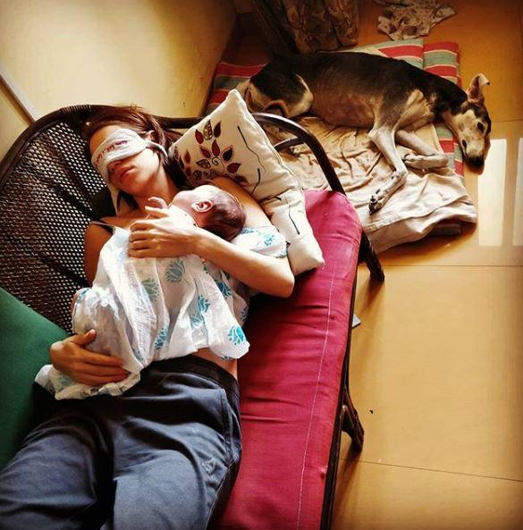Kalki Koechlin shared the adorable post and captioned it as best friends in isolation