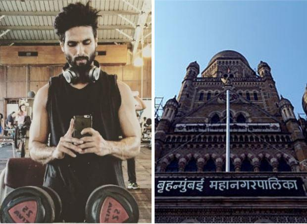 BMC has reprimanded Shahid Kapoor as well as the gym owner for violating the health advisory