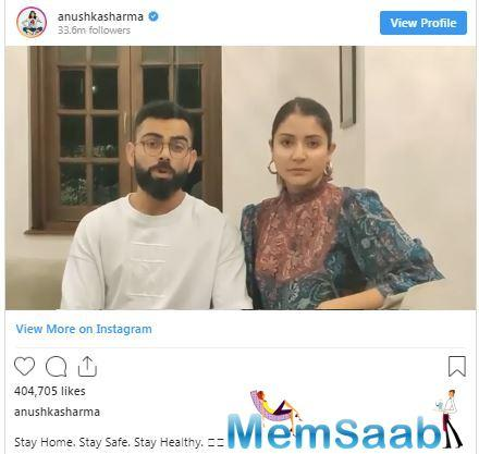 While Virat highlighted that 'We know that we are all going through a very difficult time', Anushka reminded people saying 'And the only way to stop the Coronavirus spread is by acting together!'.
