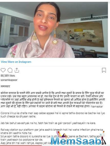 She shared a video on her social media handle to share these important lines