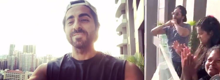 Ayushmann shared a video in which he is seen reciting the poem in his balcony