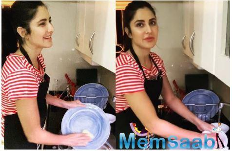 What's more, she is seen imparting tips to fans on how to effectively wash dishes without wasting too much water.