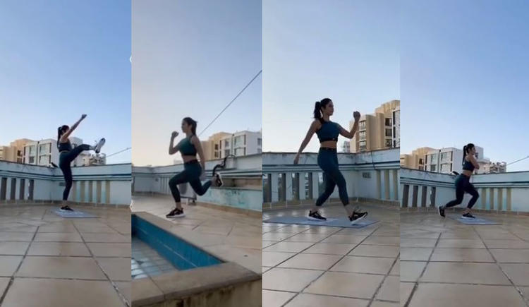Katrina Kaif has shared her home workout videos and pictures on Instagram