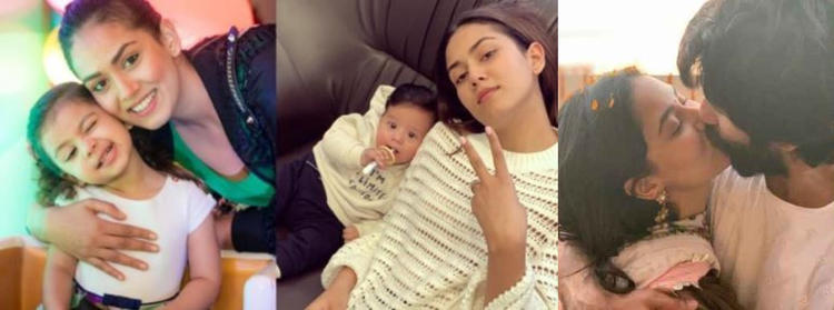 Mira shared a cool selfie while staying at home with Shahid and kids