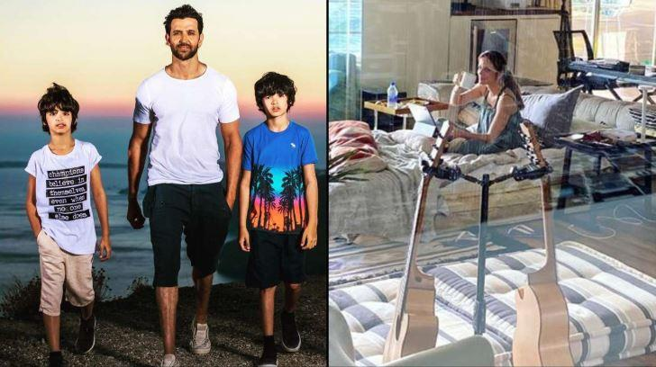 Hrithik revealed that it is unimaginable to think of being separated from his kids during the lockdown