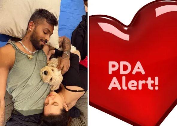 Natasa took to her Instagram account and shared a romantic moment with Pandya
