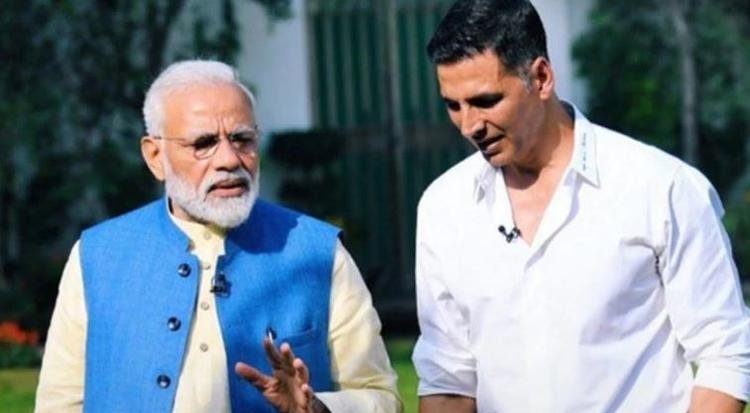"""Prime Minister Narendra Modi, who appreciated the superstar's efforts--calling it a """"good gesture"""""""