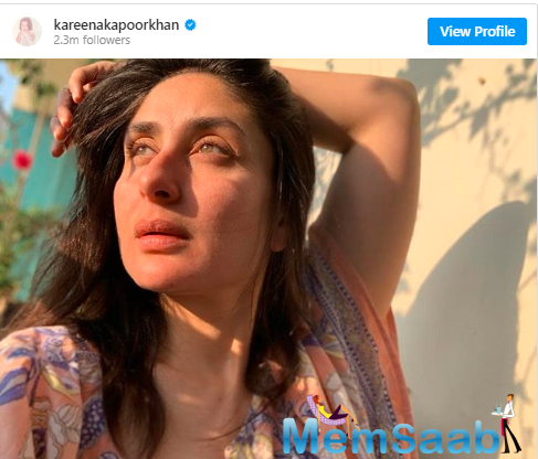 Kareena has been on a photo-sharing spree on Instagram. Recently, she shared how she is trying to keep herself fit and fine amid the coronavirus outbreak. She took to Instagram and shared a picture of her working out.