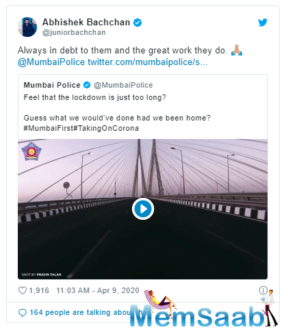 Mumbai Police shared a short clip on their official Twitter handle which showed how they would have spent this lockdown time if they would have been at home.