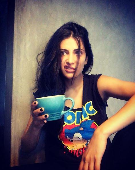 Shruti's expression proves that maybe she's not ready to embrace the taste of it