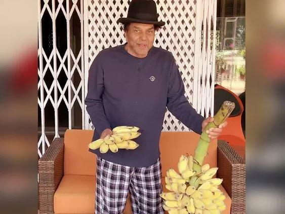 Garam Dharam shared pictures of the fruits he was growing in his farm