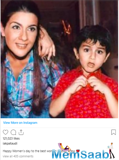 In case you missed it, he shared another childhood photo with Amrita Singh on the occasion of Women's Day last month, have a look: