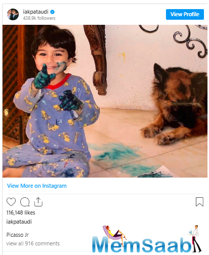 Now meet Ibrahim Ali Khan now, also Saif's son and who was no less. He shared his childhood picture recently and called himself Picasso Jr.
