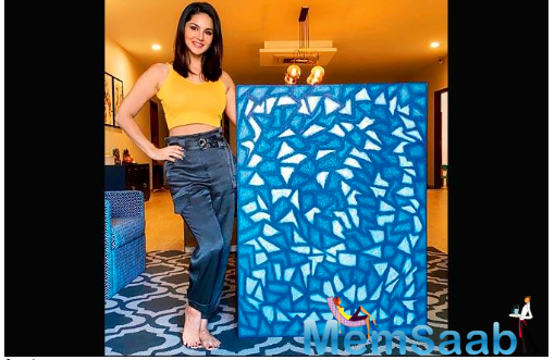 Sunny Leone shares her lockdown piece of art on Instagram