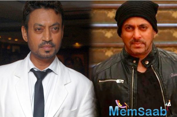 Salman Khan and Irrfan Khan never worked together, but it was impossible for anyone not to be aware of his craft and charming aura.