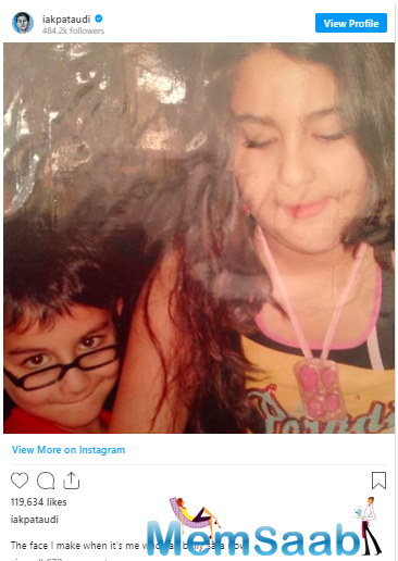 Ibrahim took to Instagram to share the picture that he had dug out of his childhood albums.