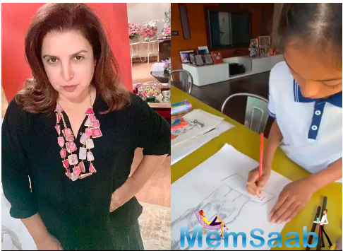 Farah had earlier revealed that her daughter was diligently sketching for donations, before and after school and all the weekends.
