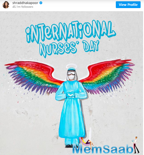 Today, on the occasion of International Nurse Day, the 'Saaho' actress shared a heartfelt post on her Instagram and tagged them as 'angels in disguise'.