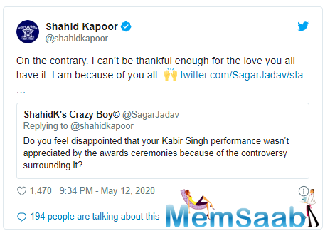 This is what Shahid said: