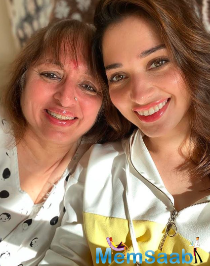 Though Tamannaah has her parents to keep her company, she says that she misses her brother, Anand, who stays in New York.