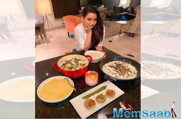 Soundarya Sharma spread happiness by cooking Eid delicacies for her friends stuck here.