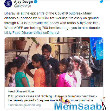 For the uninitiated, Akshay Kumar, Ajay Devgn and Suniel Shetty also collaborated with Dharavi rappers for a music video to spread the stay-at-home message to help control community spread of the virus.