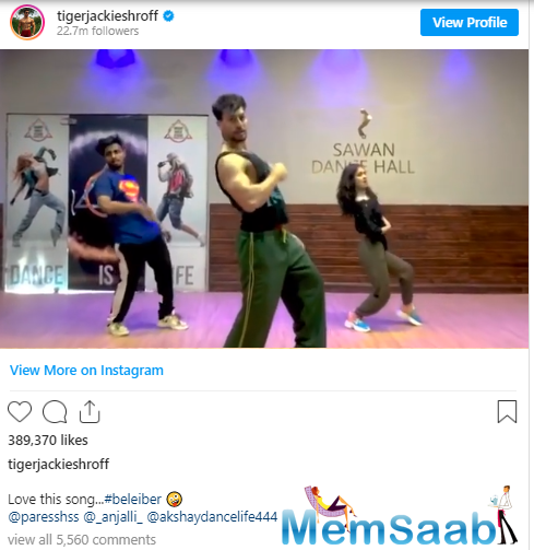 His smooth moves left everyone in awe, including Disha Patani. She commented with three clap hands and a heart-eye emoji.