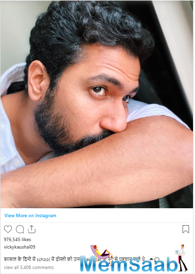 On Thursday, the actor took us down the memory lane with his latest post on Instagram where he talked about rainy days.