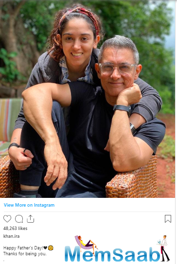 And on June 21, she took to her Instagram account to wish her father and Bollywood Superstar Aamir Khan on the occasion of Father's Day.