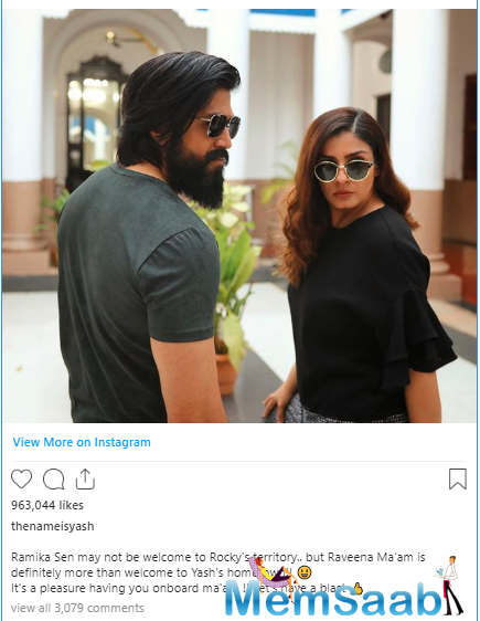 Post the humongous success of KGF, fans are quite kicked about the second chapter of the Yash starrer period action drama, which also features Raveena Tandon and Sanjay Dutt in pivotal roles.