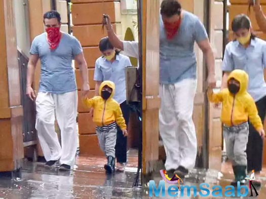 The Pataudi boys enjoyed their little walk, with their house help following close behind.