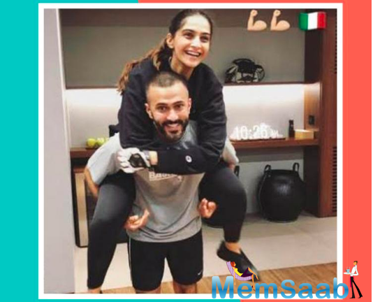 From playing basketball to showing off abs post workout, Sonam shared a couple of photos that gave fans a glimpse of her and Anand's love for fitness.