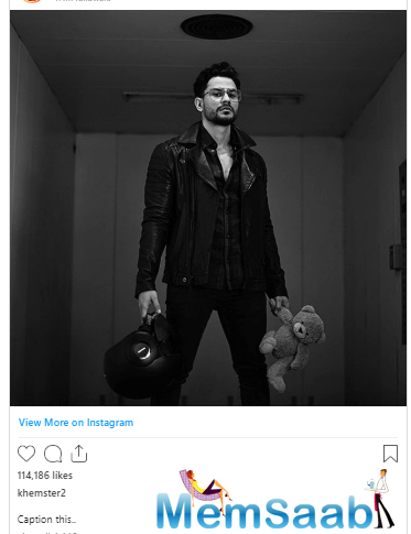 Kunal Kemmu took to Instagram to share a rather mysterious picture of himself with his 1.4 million followers.