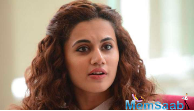 While a lot of television artistes have returned to work, Taapsee is one of the fist Bollywood stars to resume shooting.