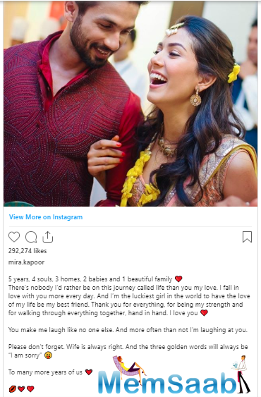Neha Dhupia wished them a happy anniversary with a pair of pink hearts.