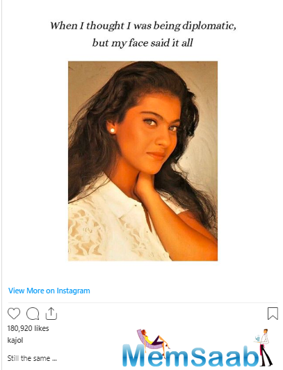 The actress also explained why she feels this way: She said her expressions reveal the actual state of her mind! Kajol added that she has always been like this.