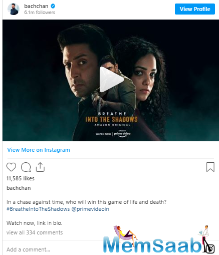 Once again, the miss India has shared a sweet post, encouraging Junior Bachchan, as he gears up for the release of his digital debut, Breathe.
