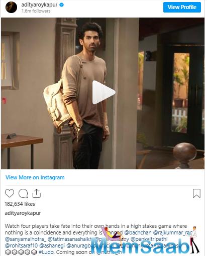 Film's motion poster features Aditya in the classic boy next door look dropping major swag.
