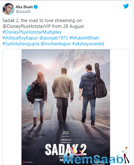 The film in question is Sadak 2, a sequel to the 1991 drama, Sadak, which starred Sanjay Dutt and Pooja Bhatt.