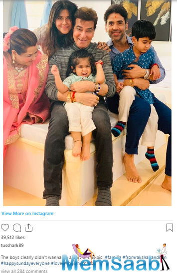 The picture is from Raksha Bandhan shows how family functions can be fun along with being emotional ones.