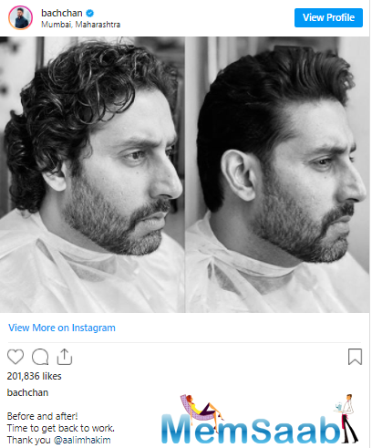 As he's back and that too with a bang, he's now gearing up for getting back to work and he took to his Instagram account to share his new look.