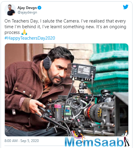 The actor turned filmmaker took to Instagram to share a picture of himself where he is seen shooting something on the camera.
